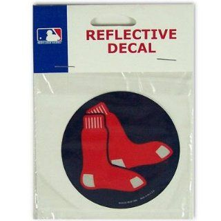 "Boston Red Sox Official MLB 3"" Reflective Decal by Wincraft  Sports Fan Decals  Sports & Outdoors"