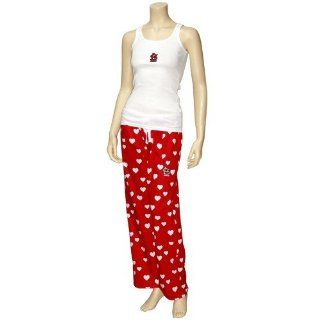 St Louis Cardinals Ladies Red White Amour Pajama Set Sports & Outdoors
