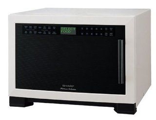 Sharp R 630DW 1100 Watt 1 2/5 Cubic Foot Microwave, White Microwave Ovens Kitchen & Dining