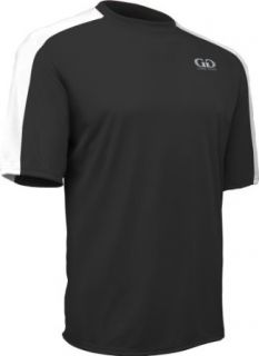 PT814S Adult Men's and Women's Fitness T Shirt with Shoulder Panel, Odor Control Clothing