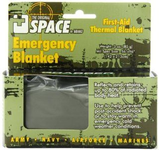 Grabber Outdoors The Original Space Brand Emergency Tactical Survival Blanket  Olive Drab/Silver (Pack of 3) Health & Personal Care