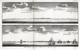 Antique Print CAPE BLANCO PATAGONIA ARGENTINA Anson Walter 1749   Etchings Prints