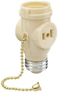 Pass & Seymour 1406ICC10 Lamp Holder Medium Outlet Pull Chain Great for Light Duty Applications   Light Sockets