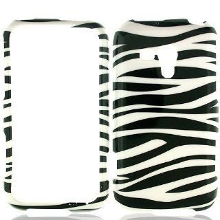 Black White Zebra Stripe Hard Cover Case for Samsung Galaxy Rush SPH M830 Cell Phones & Accessories