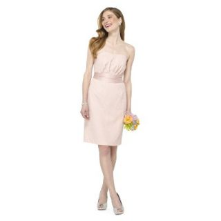 TEVOLIO Womens Lace Strapless Dress   Peach   8