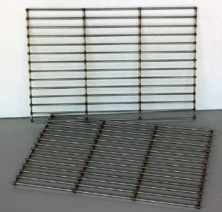 Stainless Replacement Cooking Grates (Pair) 7527 Standard duty Aftermarket  Patio, Lawn & Garden