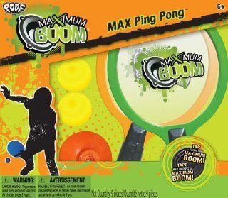 POOF Slinky 0C8335BL Poof Max Boom Portable Ping Pong Table Set with Paddles and Balls Toys & Games