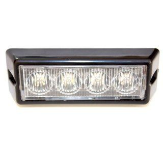 851 Amber White 4 LED Emergency Strobe Light Head Waterproof Surface Mount Deck Dash Grille Automotive