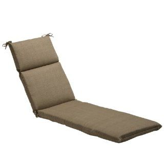 "72.5"" Eco Friendly Textured Taupe Outdoor Chaise Lounge Cushion  Patio Furniture Cushions  Patio, Lawn & Garden"