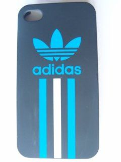 iPhone 4 Blue Adidas Sports Hard Shell Case Cover iPhone 4g Hard Back Case Cover with Perforated Sides Cell Phones & Accessories
