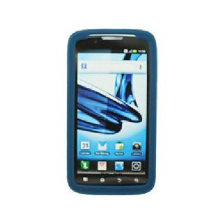 Blue Soft Silicone Gel Skin Cover Case for Motorola Atrix 2 MB865 Cell Phones & Accessories