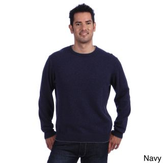 Luigi Baldo Luigi Baldo Italian Made Mens Cashmere Crew Neck Sweater Blue Size Small