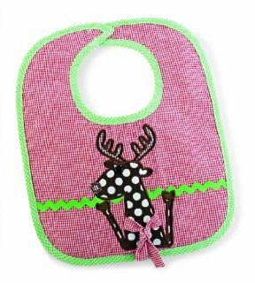 Mud Pie Christmas Baby Bib for Little Boys or Girls (Reindeer)  Baby