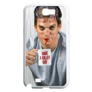 Custom Dexter Back Cover Case for Samsung Galaxy Note 2 N7100 N1211 Cell Phones & Accessories