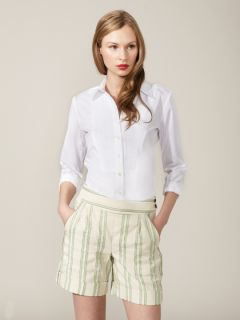 Pintucked Cotton Tuxedo Shirt by Façonnable