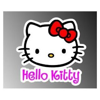 "Hello Kitty car bumper sticker decal 5"" x 4"""