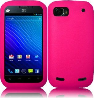 For ZTE Warp Sequent N861 Silicone Jelly Skin Cover Case Hot Pink Cell Phones & Accessories