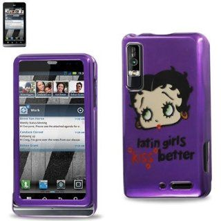 Reiko 2DPC MOTXT862 B14 Durable Snap On Protective Case for Motorola Droid 3 Premium   1 Pack   Retail Packaging   Purple Cell Phones & Accessories