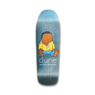 WORLD INDUSTRIES Skateboard Deck DUNE BABYSITTING Re Issue BLACK 8.875  Sports & Outdoors