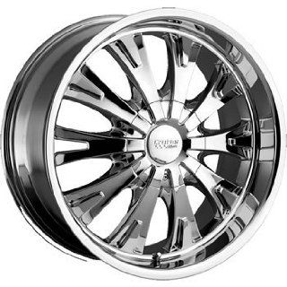 Cruiser Alloy Cake 22x9.5 Chrome Wheel / Rim 5x5.5 with a 35mm Offset and a 108.00 Hub Bore. Partnumber 903C 2298535 Automotive