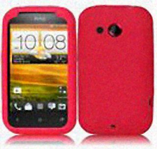Red Soft Silicone Gel Skin Cover Case for HTC Desire C Cell Phones & Accessories