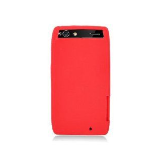 Motorola Droid RAZR XT912 XT910 Red Soft Silicone Gel Skin Cover Case Cell Phones & Accessories