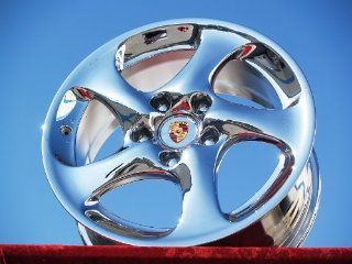 Porsche 911 Carrera/4S/Turbo Set of 4 genuine factory 18inch chrome wheels Automotive