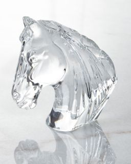 Horse Head Figurine   Waterford Crystal