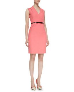 Womens gwendolyn sleeveless v neck sheath dress, surprise coral 868   kate