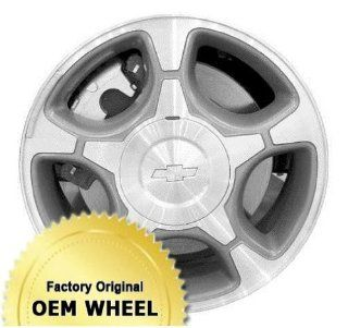 CHEVROLET TRAILBLAZER 17x7 5 SPOKE Factory Oem Wheel Rim  MACHINED FACE GREY   Remanufactured Automotive