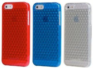 Case FX *3 PACK* FLEX DIAMOND ICE Case Collection for Apple iPhone 5, 5S   RADIANT RED, HYPNOTIC BLUE, and CLEAR Cell Phones & Accessories