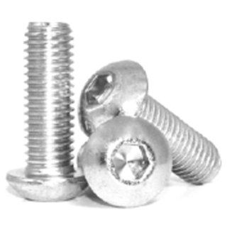 M6 X 50mm Button Head Cap Screw; Stainless Steel; Pack of 10 Automotive