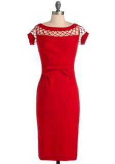 Tatyana/Bettie Page Oui Mon Cheri Dress in Cherry  Mod Retro Vintage Dresses