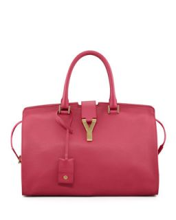 Y Ligne Soft Leather Bag, Fuchsia   Saint Laurent