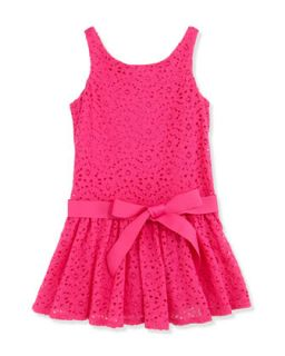 Floral Lace Sleeveless Dress, Regatta Pink, Girls 4 6X   Ralph Lauren