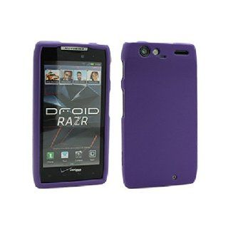 Purple Hard Snap On Cover Case for Motorola Droid RAZR XT912 XT910 Cell Phones & Accessories