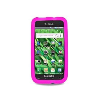 Hot Pink Soft Silicone Gel Skin Cover Case for Samsung Galaxy S Vibrant 4G SGH T959 SGH T959V Cell Phones & Accessories