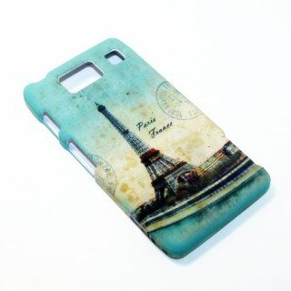 For Motorola Droid Razr HD XT926 Verizon Eiffel Tower Paris Snap on Hard Cover Case Cell Phones & Accessories