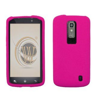 LG Nitro HD P930 Solid Hot Pink Skin Cover Cell Phones & Accessories