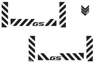 "The Pixel Hut gs00009b BMW GS Adventure Motorcycle Reflective Decal Kit ""GS Chevron"" for Touratech Panniers   Black Automotive"