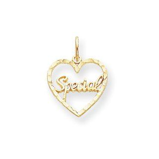 10k Special In Heart Charm, Best Quality Free Gift Box Satisfaction Guaranteed Pendant Necklaces Jewelry