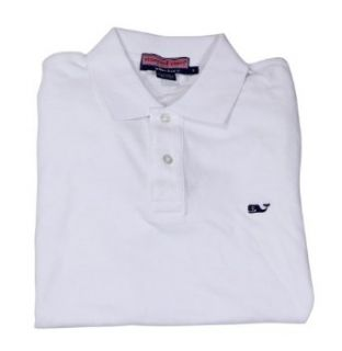 Vineyard Vines Mens White Cap Solid Classic Polo Shirt at  Men�s Clothing store