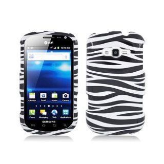Black White Zebra Stripe Hard Cover Case for Samsung Galaxy Reverb SPH M950 Cell Phones & Accessories