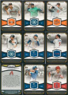 2012 Topps Baseball Gold Futures Series Complete Mint 25 Card Insert Set at 's Sports Collectibles Store