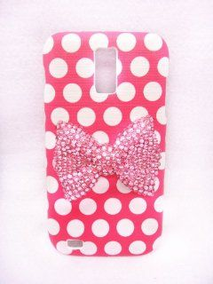 Pink Classic Lovely Special Party Cute 3D Bling Bow Dot Pattern Case Cover For Samsung Galaxy S2 S 2 II T Mobile SGH T989 Cell Phones & Accessories