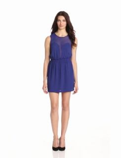 BCBGMAXAZRIA Women's Cybil Sleeveless Mini Dress, Orient Blue, Medium