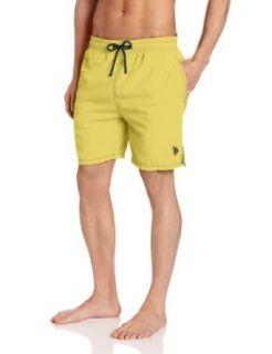 U.S. Polo Assn. Men's Solid Peached Microfiber Swim Shorts at  Men�s Clothing store Fashion Swim Trunks