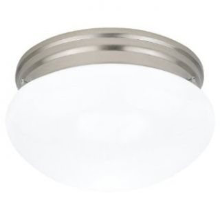 Sea Gull Lighting 5328 962 Flush Mount with Smooth White�Glass Shades, Brushed Nickel Finish   Close To Ceiling Light Fixtures