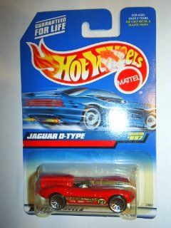 Mattel Hot Wheels 1999 164 Scale Red Jaguar D Type Die Cast Car Collector #997 Toys & Games