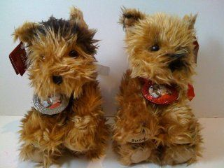Stuffed Plush Twin Yorkshire Terrier Puppies   Lucy and Max Toys & Games